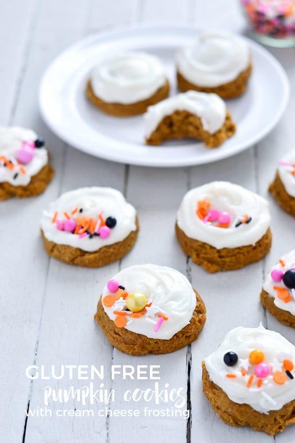 gluten free pumpkin cookies with frosting recipe