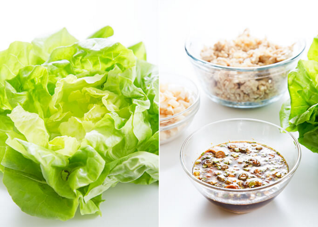 gluten free asian chicken lettuce wraps