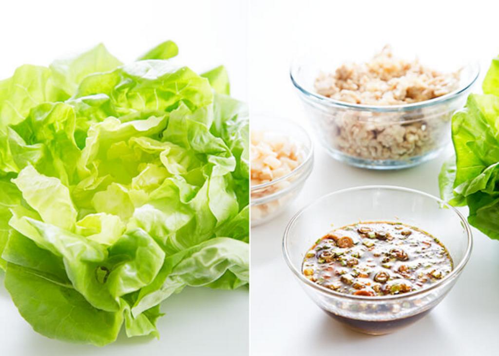gluten free asian chicken lettuce wraps