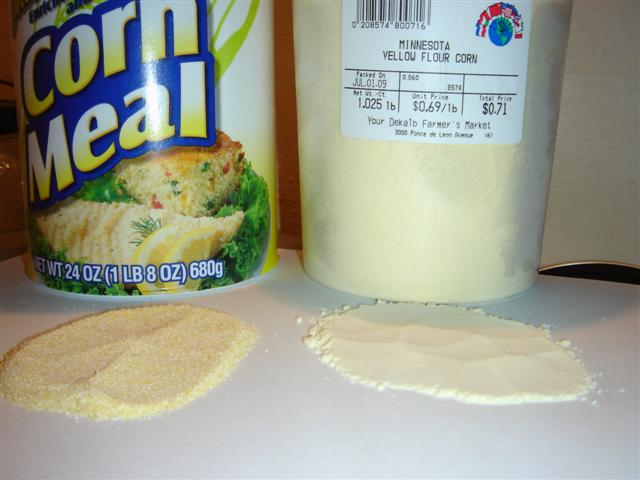 corn meal vs. corn flour