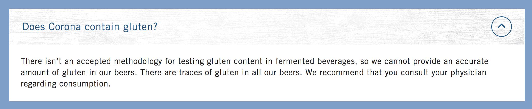 Is corona beer gluten free?