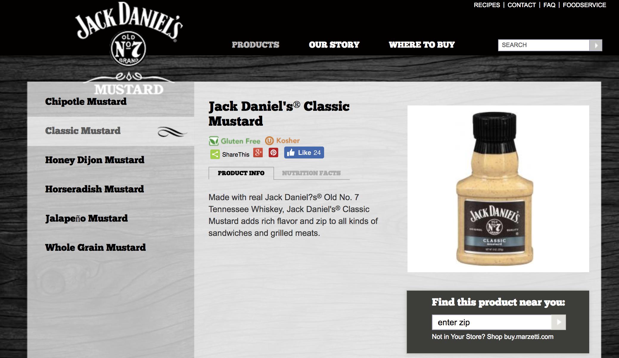 jack daniels classic mustard