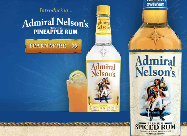 admiral nelson's spiced rum gluten free