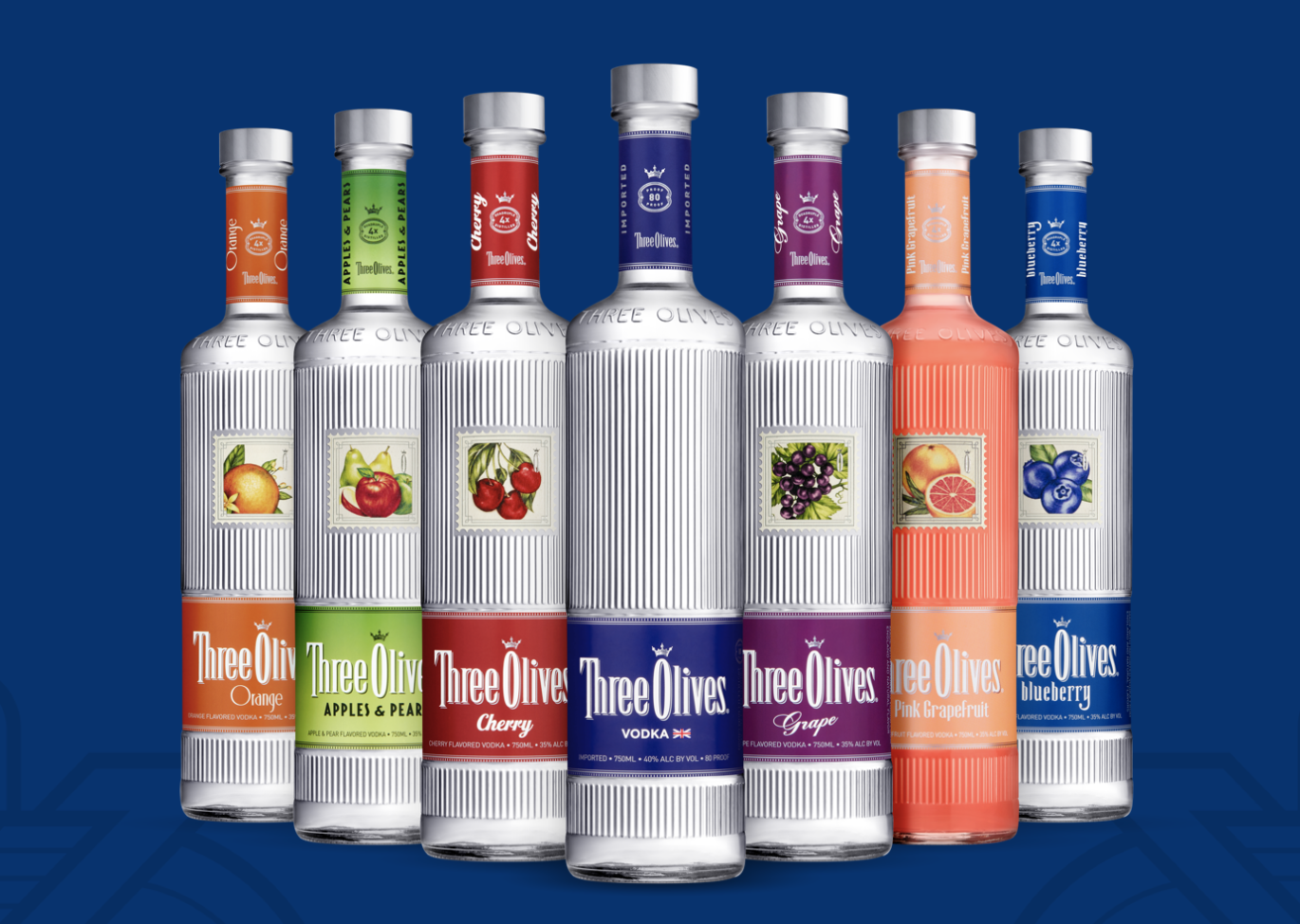 three olives vodka flavors