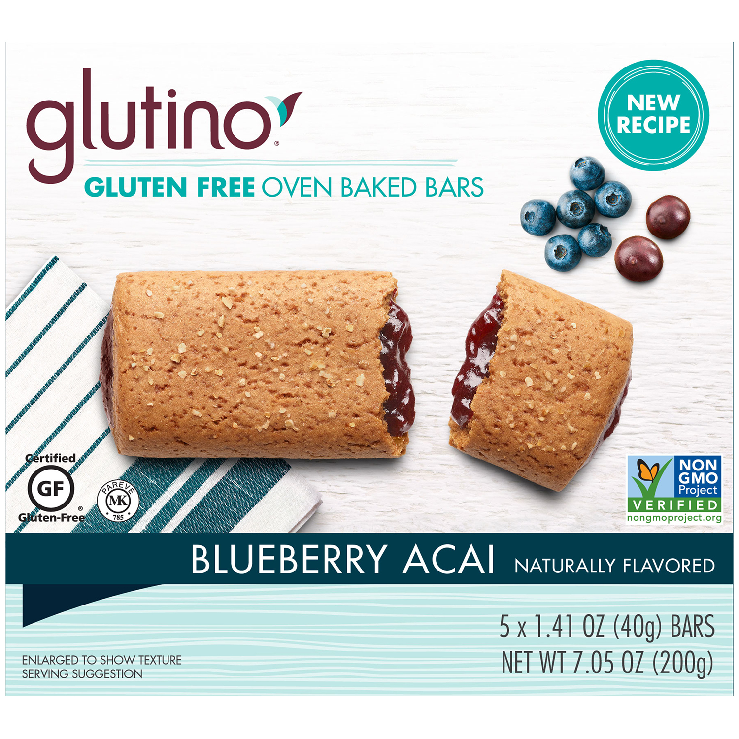 glutino blueberry acai breakfast bars