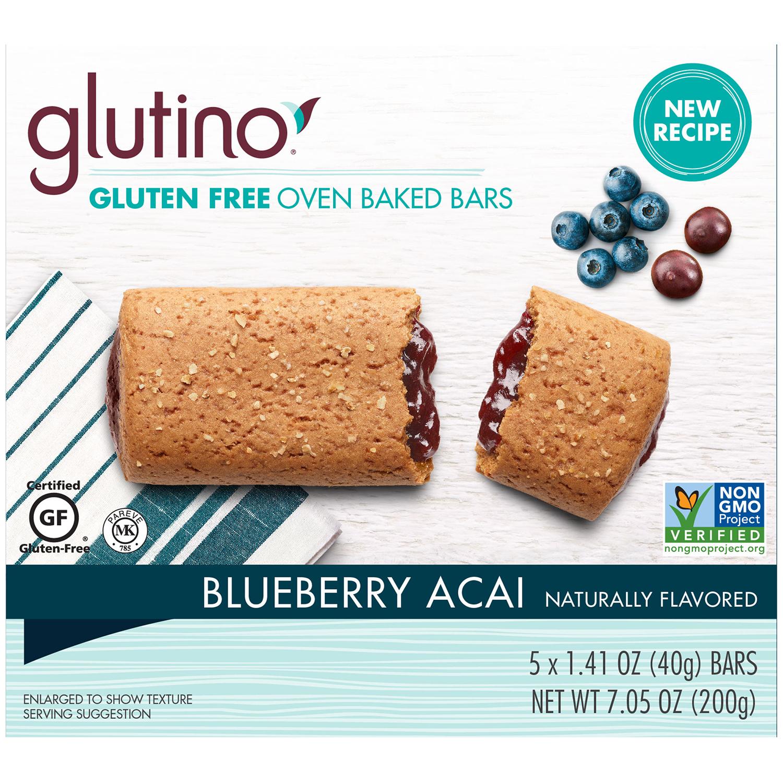 glutino blueberry acai breakfast bars
