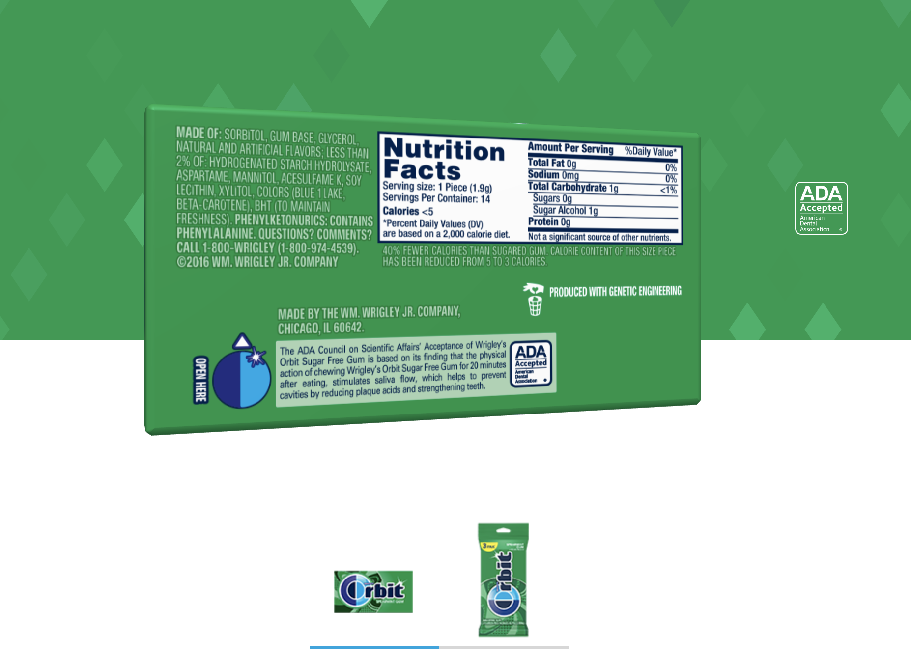 orbit gum ingredients