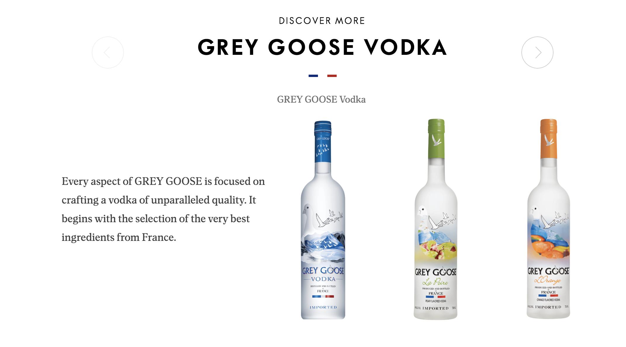 grey goose vodka flavors