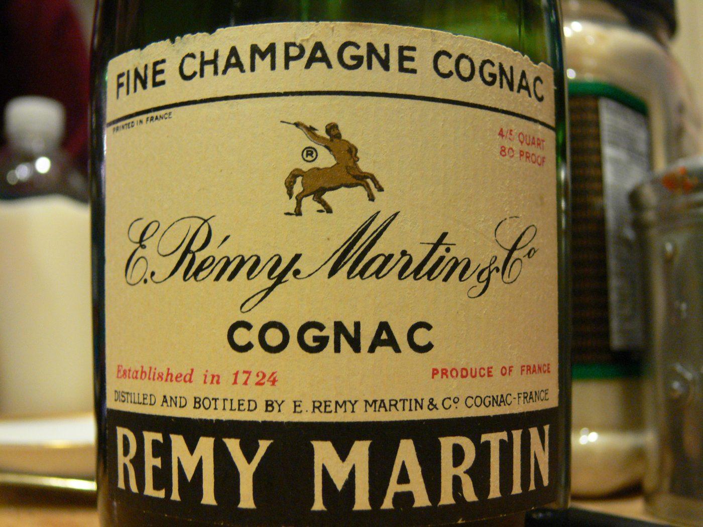 remy martin vintage bottle