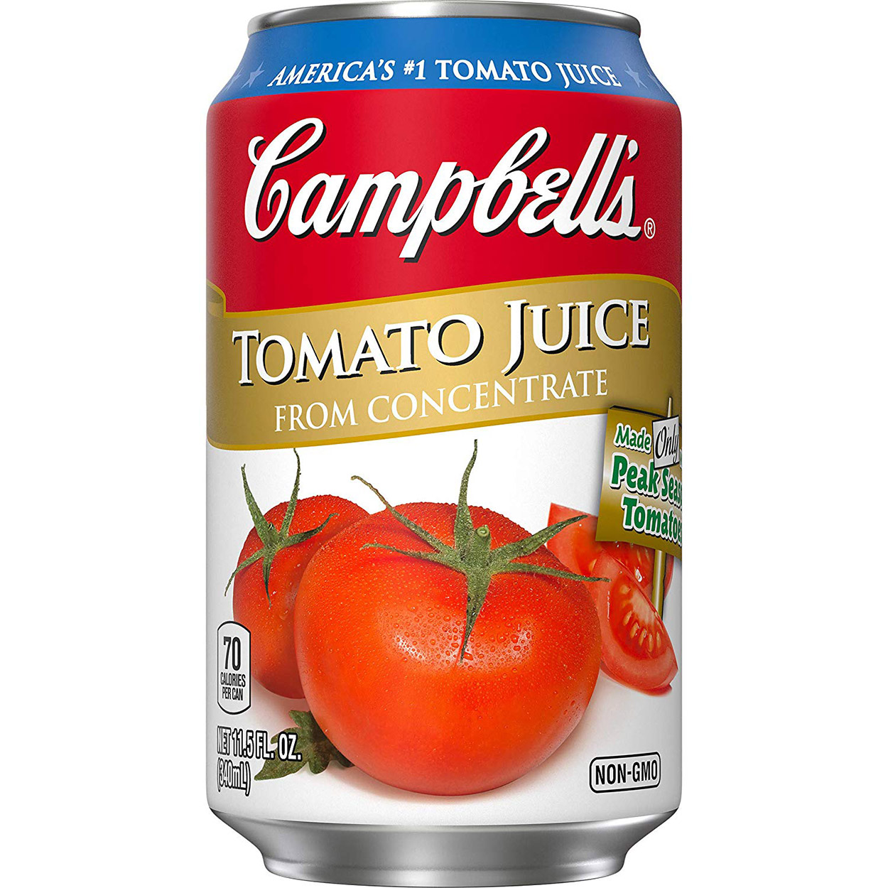 Campbell's tomatoe juice can