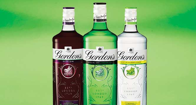 Gordon's Gin Bottles