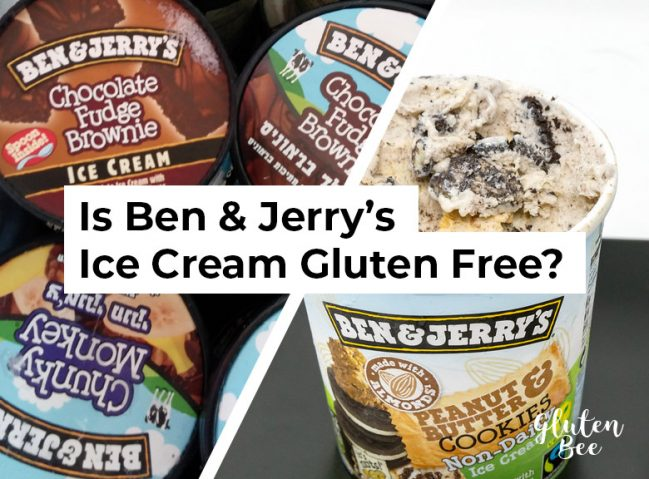 Is Ben & Jerry's Ice Cream Gluten Free?