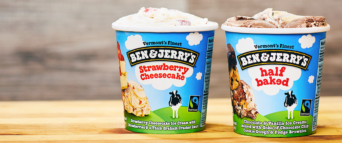 Ben and Jerry's pints