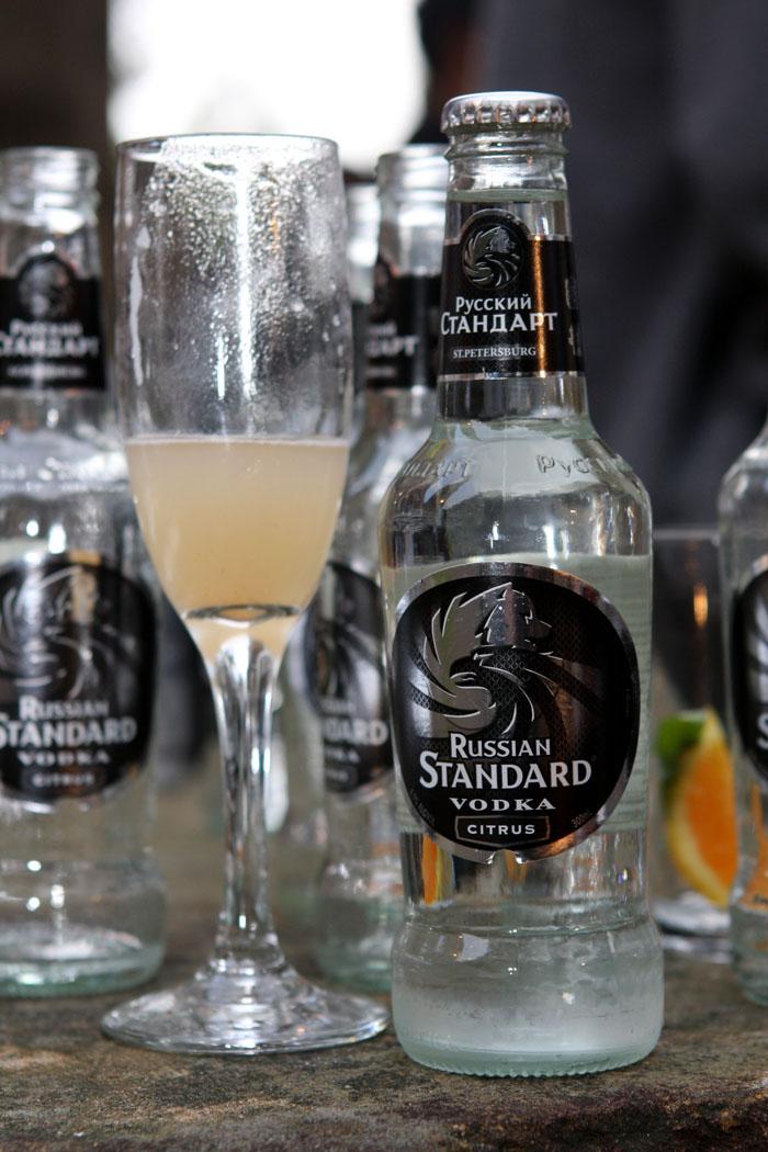 Russian Standard Vodka bottle
