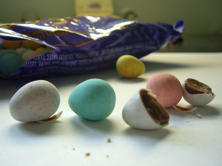 cadbury mini eggs closeup