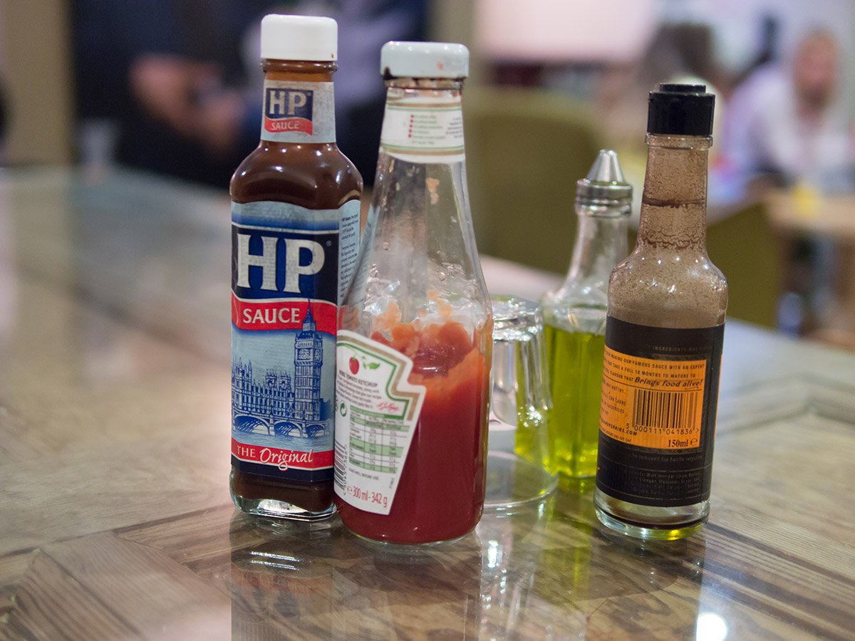 hp sauce condiments