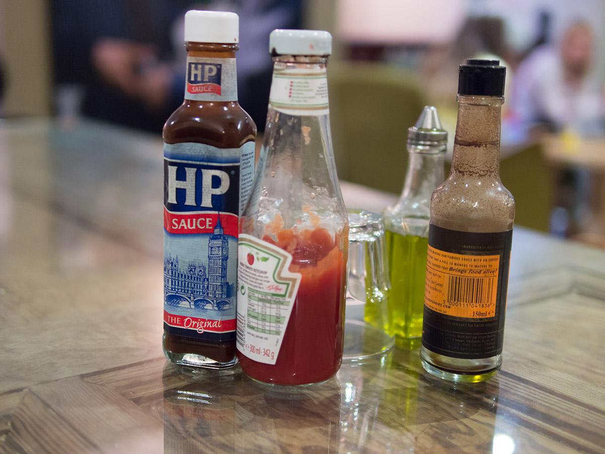 hp sauce condiments
