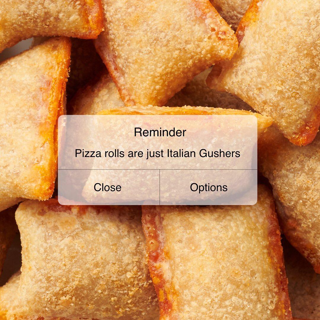 pizza rolls meme