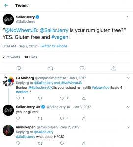 Sailor Jerry is Gluten Free