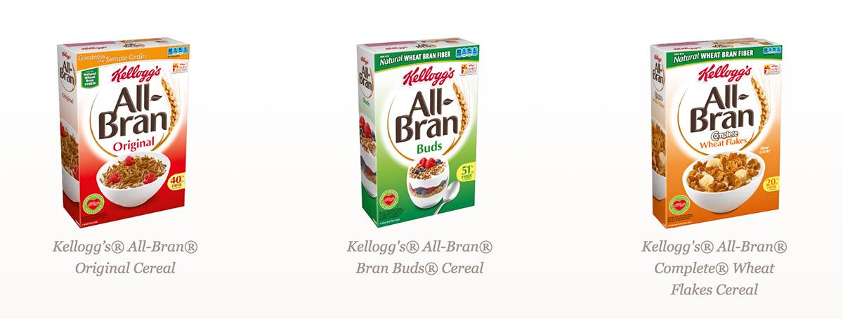all bran cereals