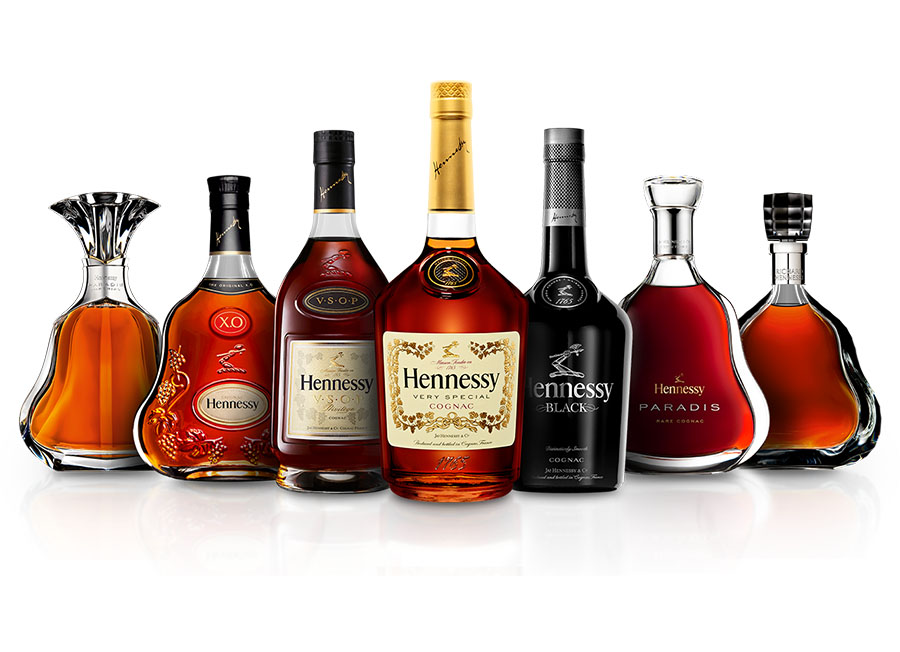 Hennessy Cognac Product Range