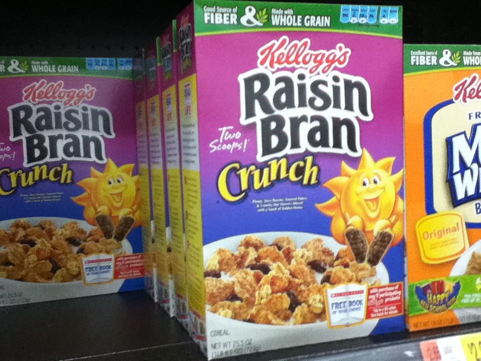 Kellogg's Raisin Bran boxes