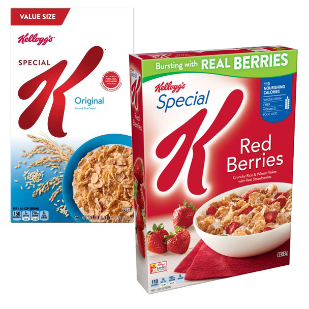 Special K Cereal Boxes