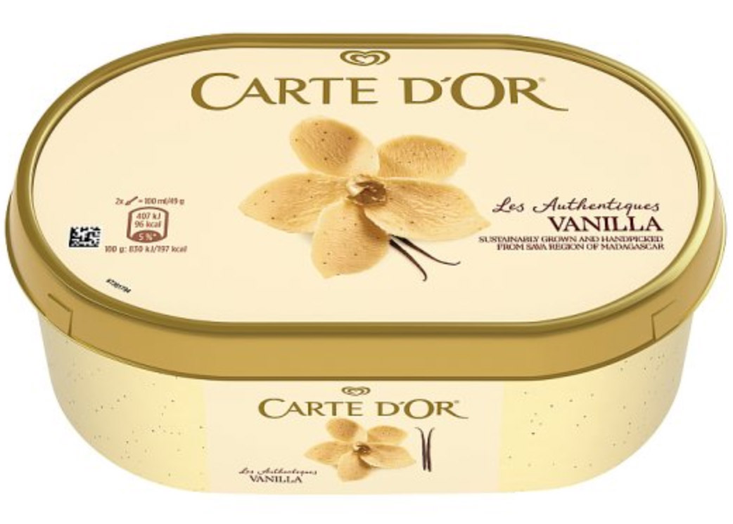 carte d'or vanilla ice cream
