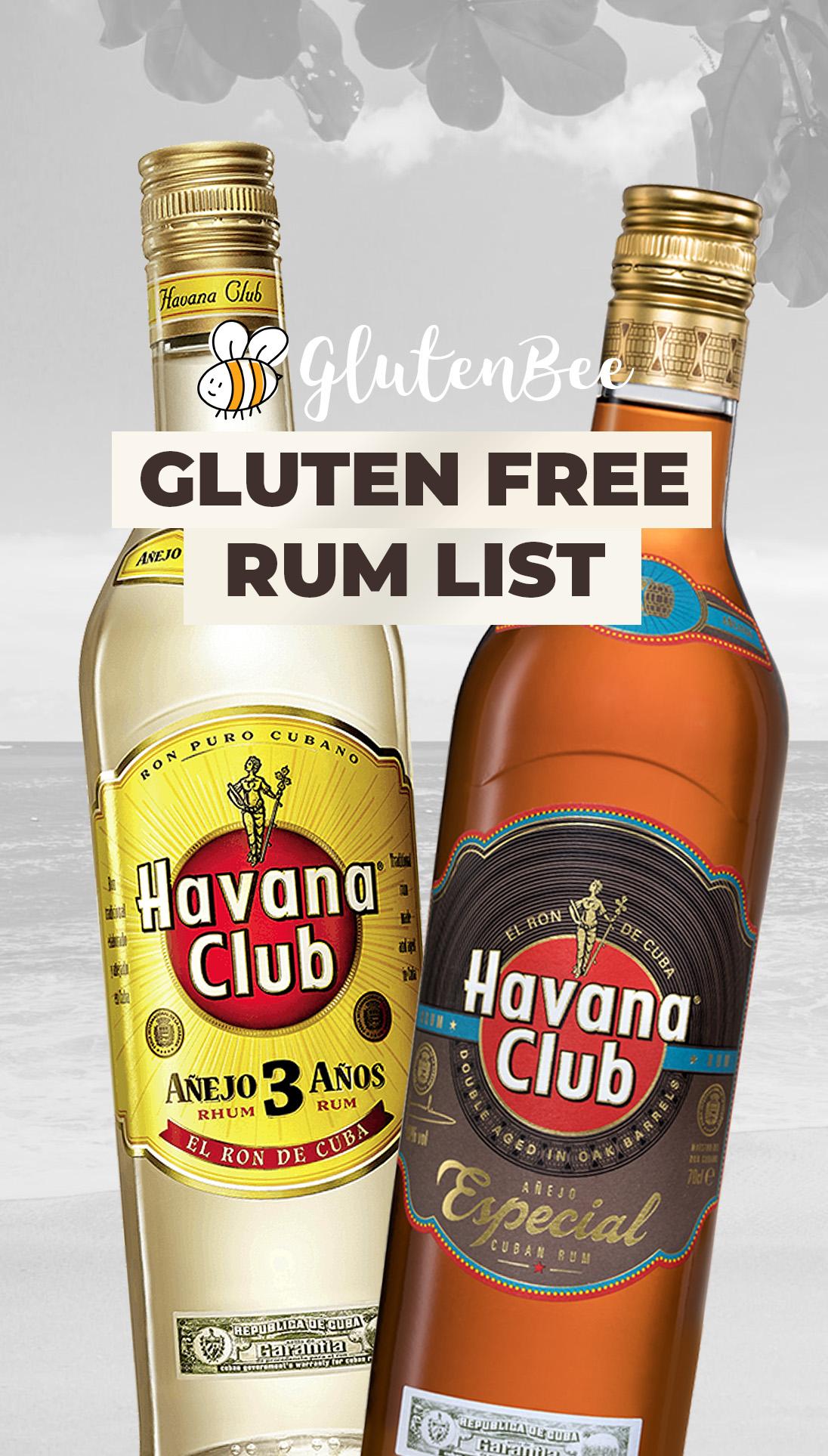 Gluten Free Rum List