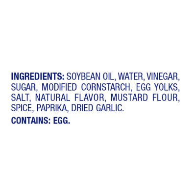 miracle whip ingredients