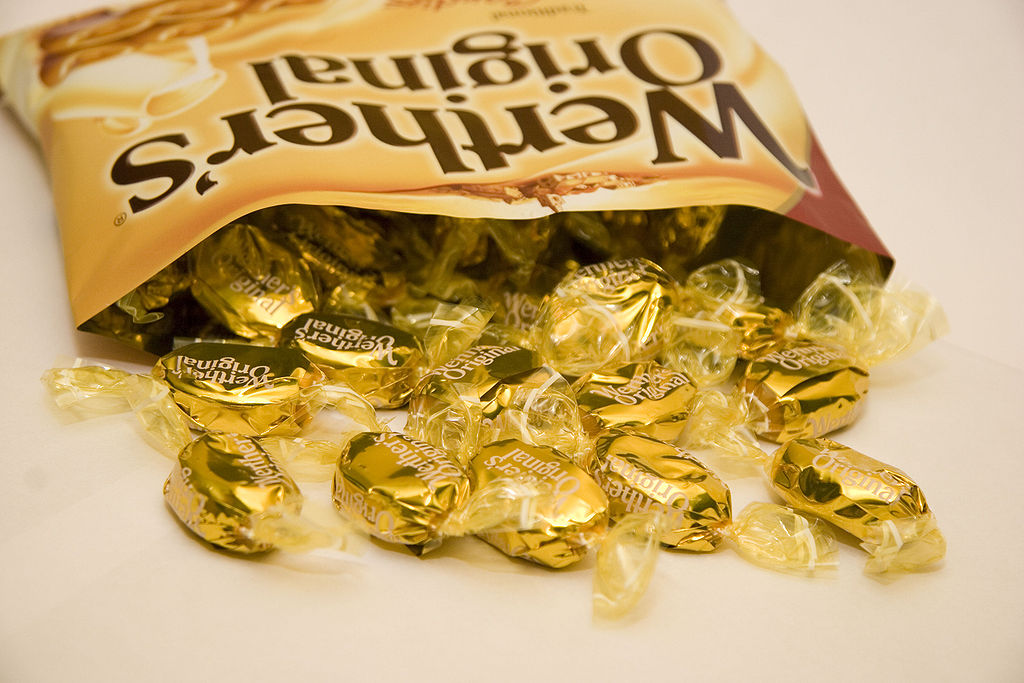 Werther's candy bag open