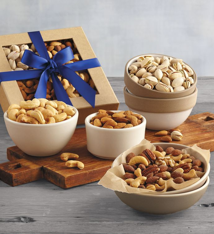 festive mixed nuts basket