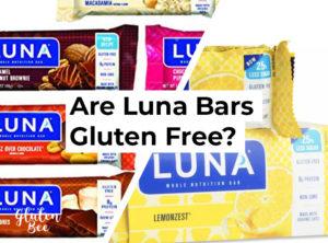 Are Luna Bars Gluten Free?