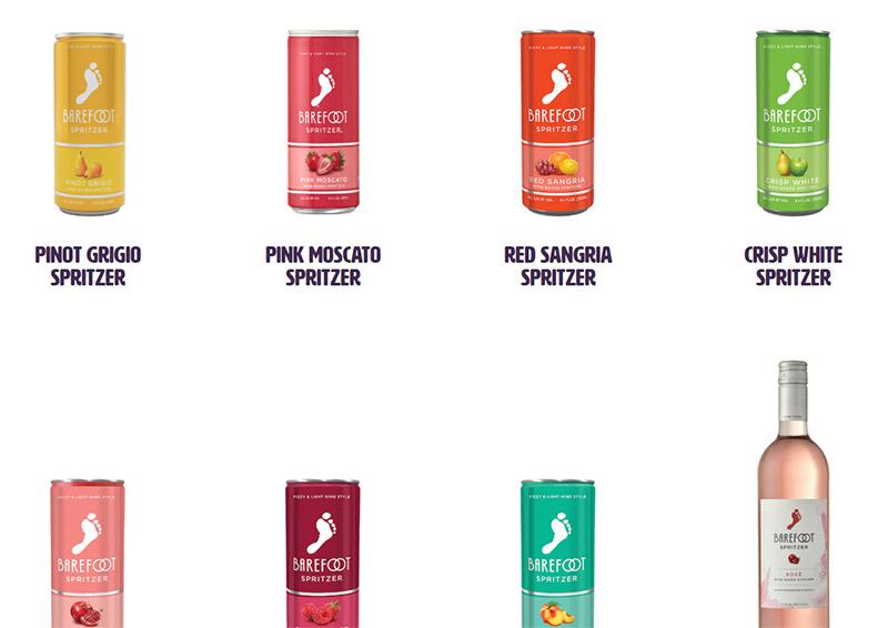 barefoot spritzer flavors