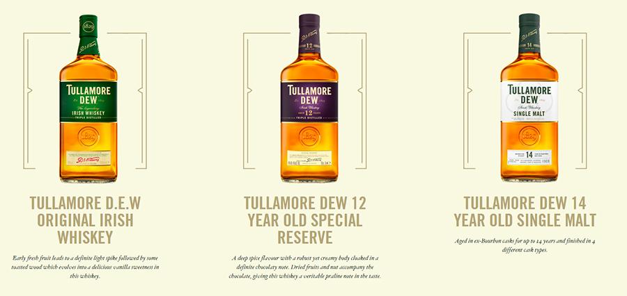 tullamore dew whiskey range