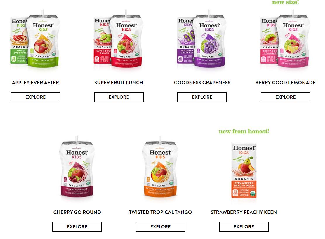 honest kids fruit juices