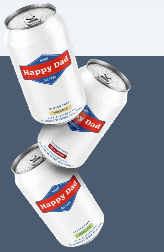 happy dad hard seltzer