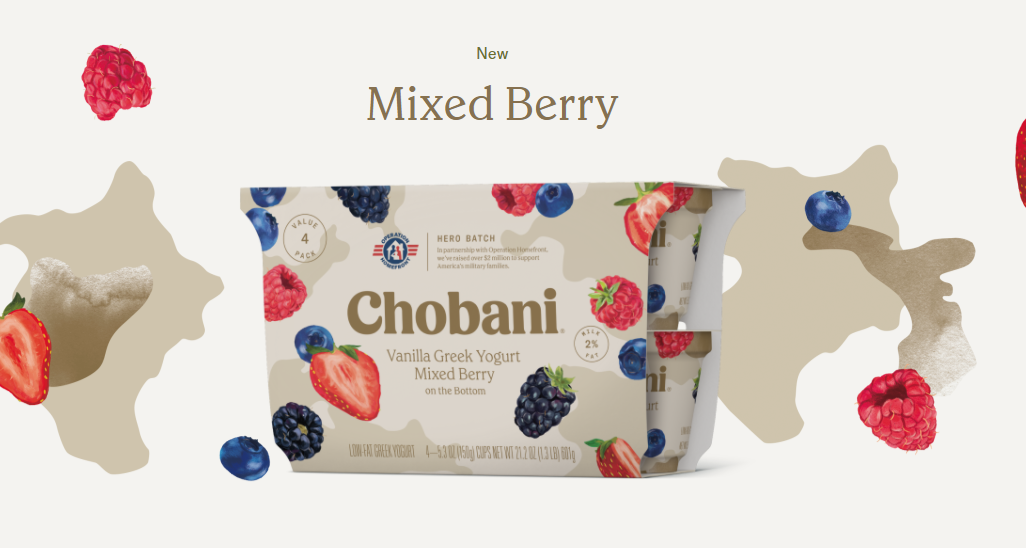 chobani mixed berry greek yogurt gluten free